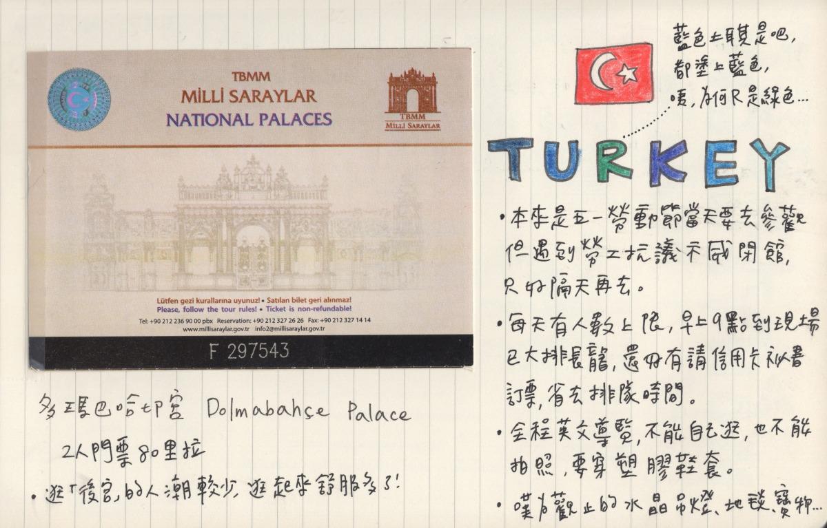 🇹🇷 旅行手帳 | 多碼巴哈切宮 Dolmabahçe Palace, Turkey